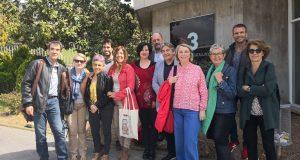 Una quinzena d'associats visiten les instal·lacions de TV3