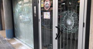 Atac vandàlic contra la delegació de TV3 a Lleida